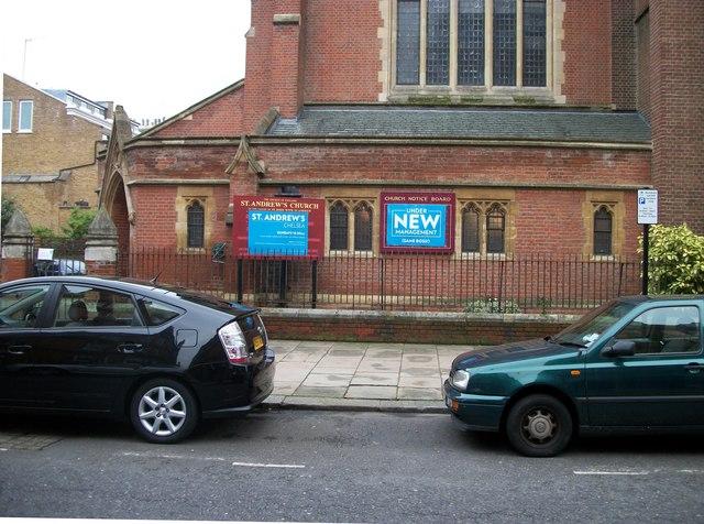 St Andrew's Church Park Walk Chelsea Under New Management