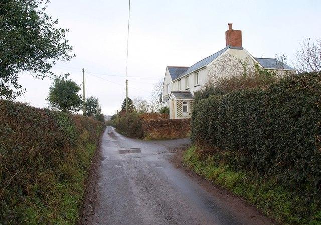 Lane past Stonehills