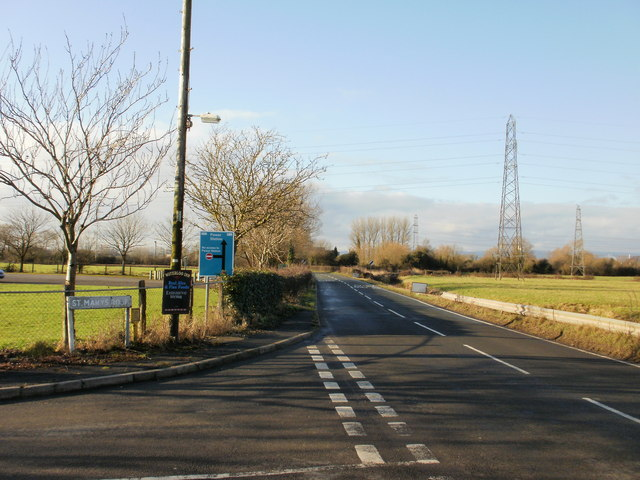 Junction of West Nash Road and St Mary's Road