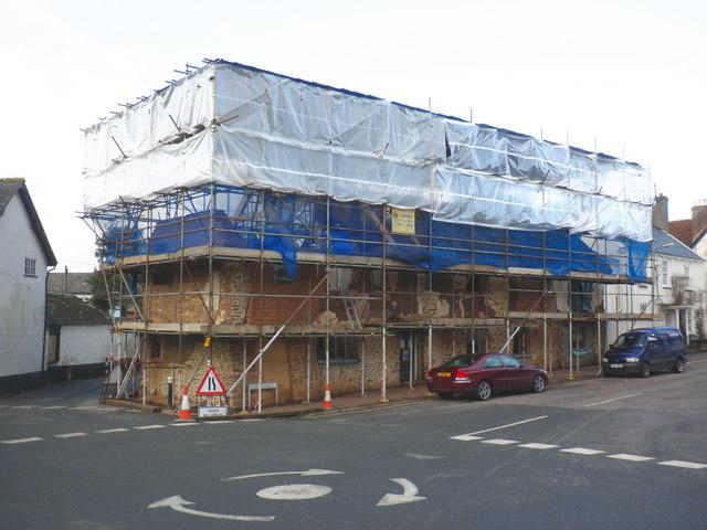 Restoration work, in Fore Street