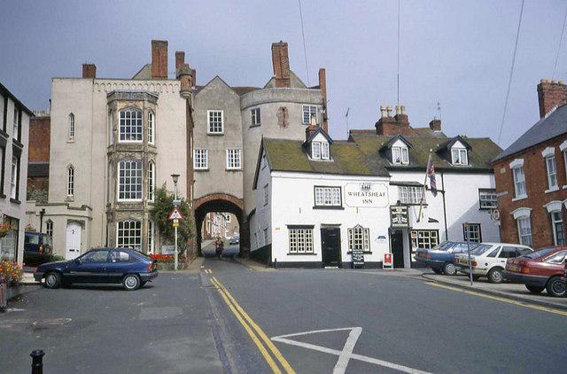 Broadgate and the Wheatsheaf Inn