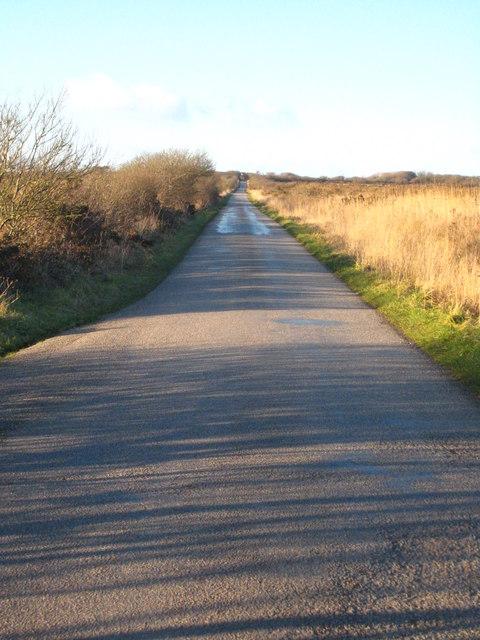 Road across Crousa Downs