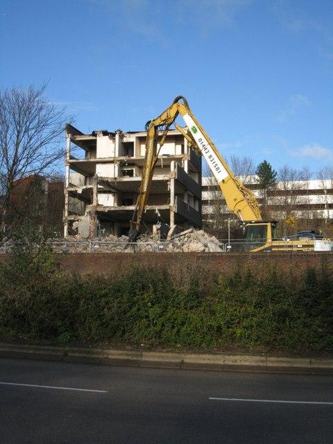 Destruction of Brook House - Basingstoke