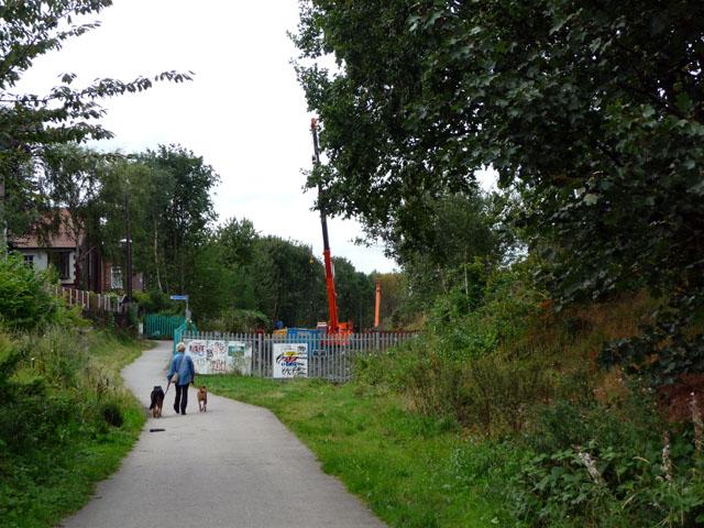 End of the Fallowfield Loop Cycleway
