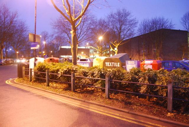 Recycling site, Black Lion Leisure Centre