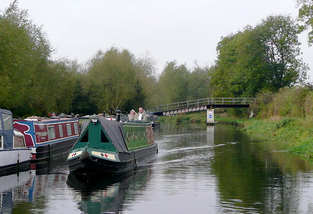 Trent and Mersey Canal at Wychnor, Staffordshire
