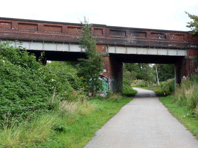 Bridge carrying St Werburgh's Road over the Fallowfield Loop Cycleway