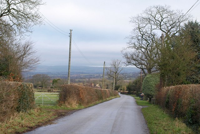 Road past Perry Farm