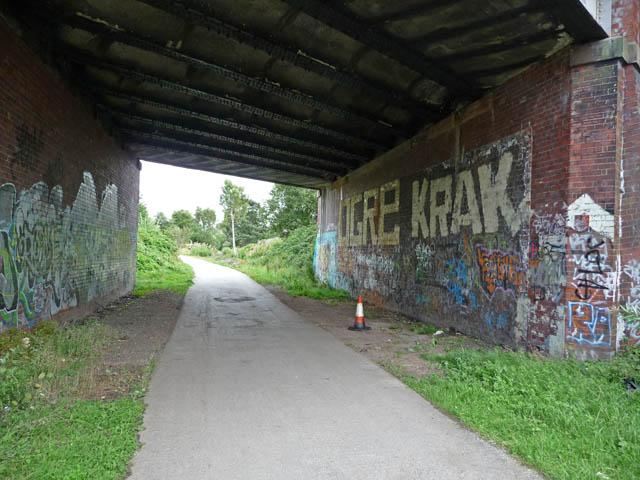 Fallowfield Loop Cycleway at St Werburgh's Road bridge
