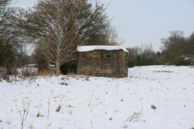 Pillbox in the snow