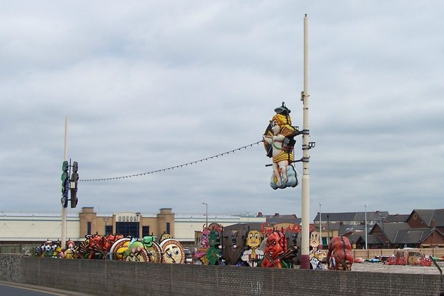 Blackpool Illuminations at rest, off Rigby Road, Blackpool