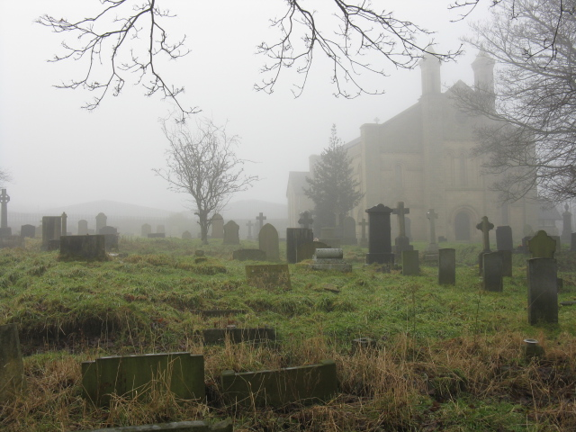 St Mary's Churchyard On A Misty Day