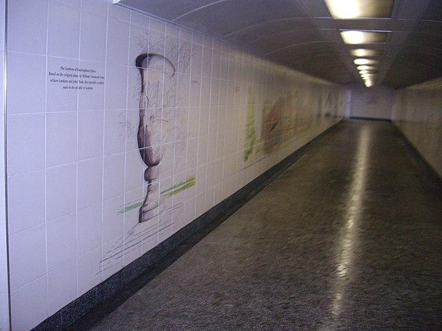 An underpass mural at Hyde Park Corner