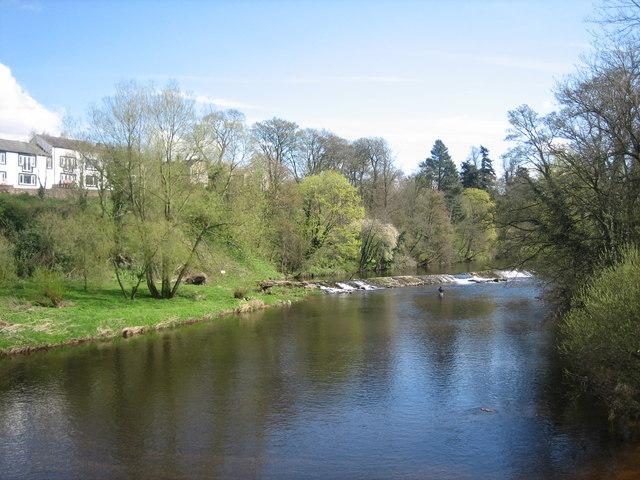 Weir on River Eden, Appleby