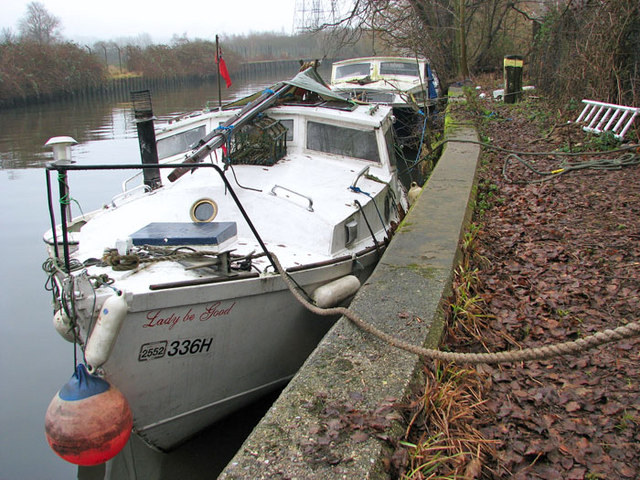 Boats moored on the River Wensum