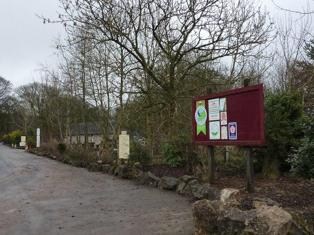 The entrance to Rivendale Caravan Site