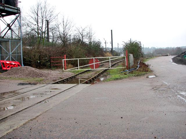 Crossing gate at railway siding