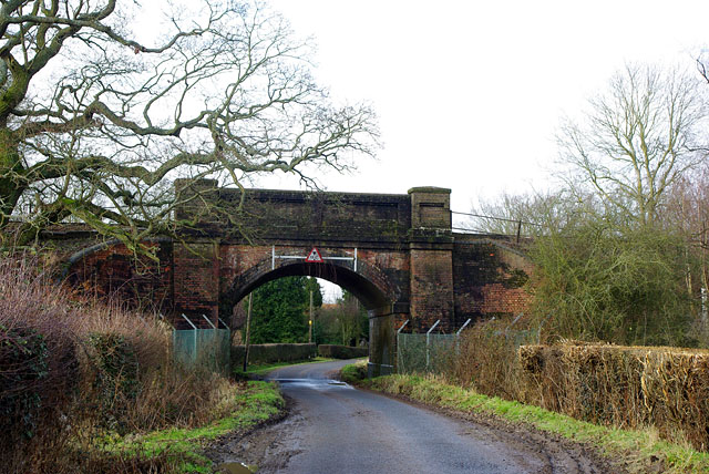 Railway bridge over Bowerland Lane