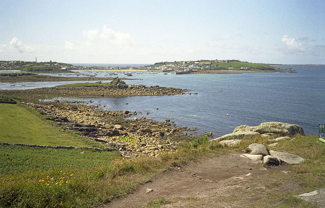 Taylor's island and the Garrison from Carn Morval