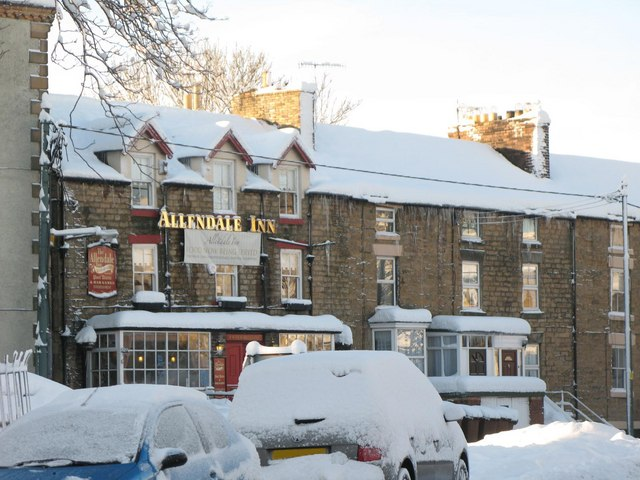 The Allendale Inn in the snow