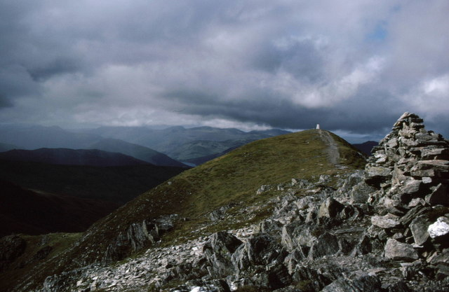 Summit cairn on Ben Vorlich