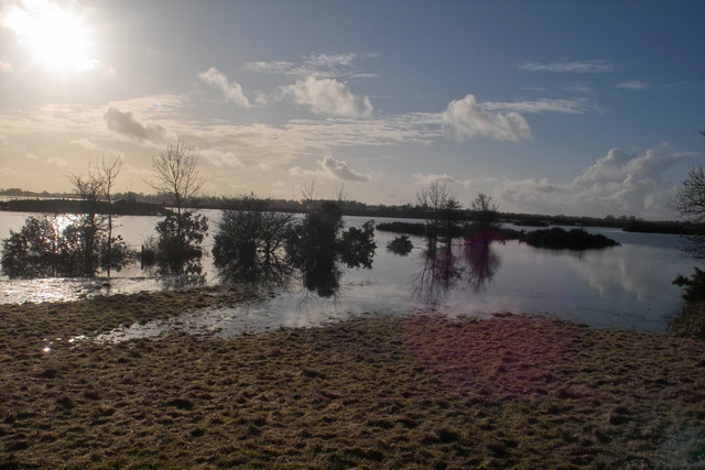 January sunshine on a flooded Lough Funshinagh