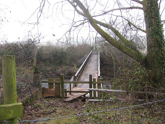 Footbridge over the M50