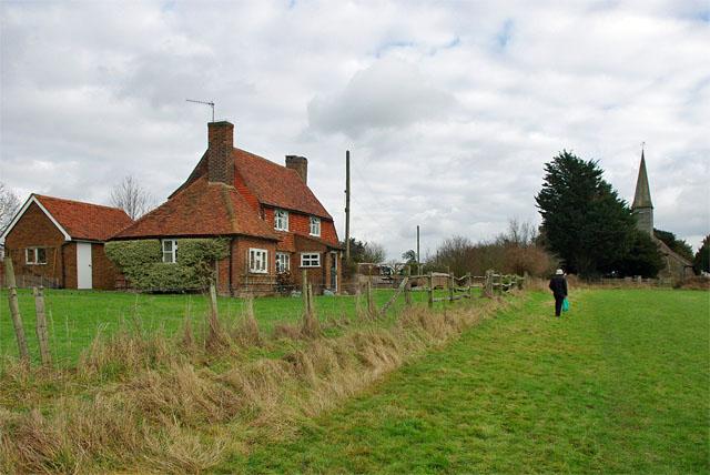 Cottage behind church, Crowhurst