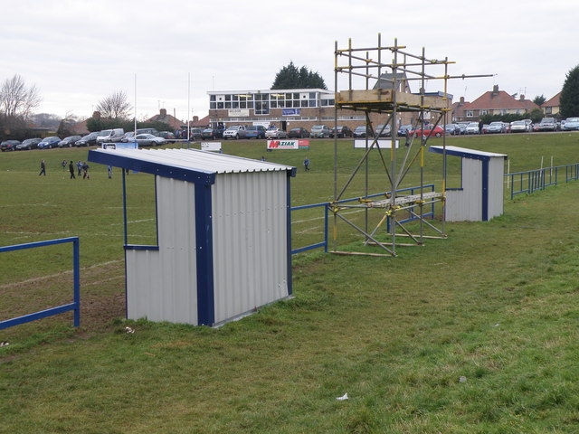 Touchline structures at Kettering rugby club