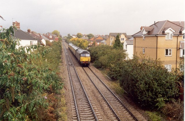 Southbound Class 47 at Crwys Road