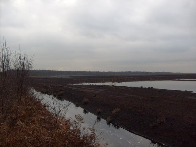 Reflooded former peat workings
