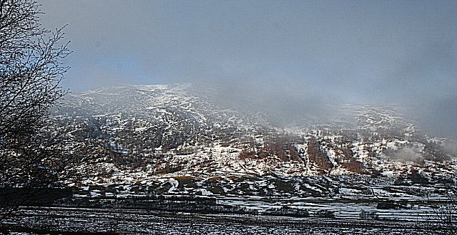 Mist-covered Mountain