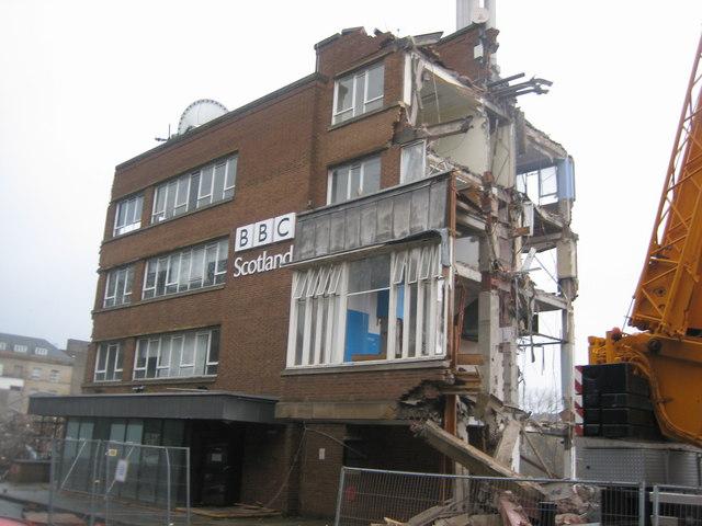 Demolition of former BBC Scotland Headquarters
