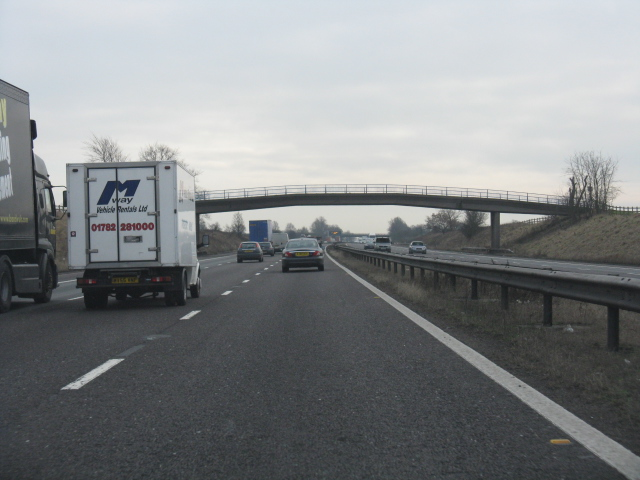 M6 Motorway - Footbridge Near Whitening House