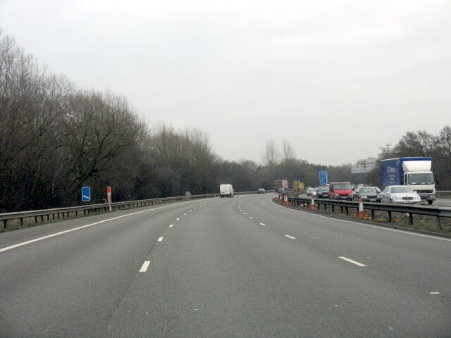 M6 Motorway - Approaching Junction 15, Southbound