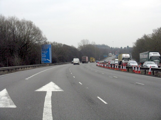 M6 Motorway - Junction 15 Exit, Southbound
