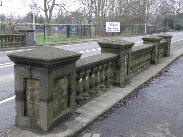 Bridge balustrades on the A6003 near Wicksteed Park