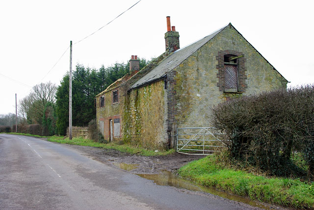 Old barn and ruined cottage