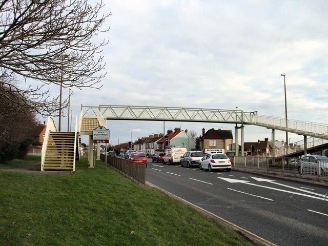 Footbridge over Old Shoreham Road