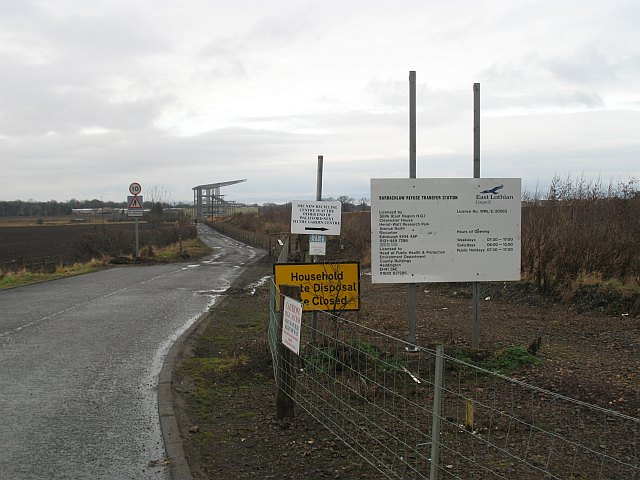 Road to Barbachlaw waste site