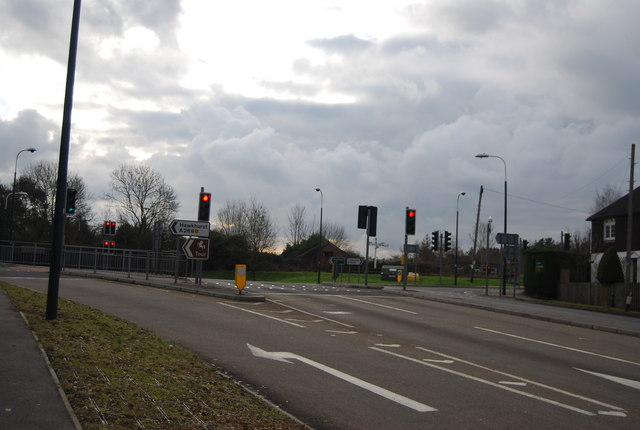 Traffic lights, A268 & A21 junction, Flimwell