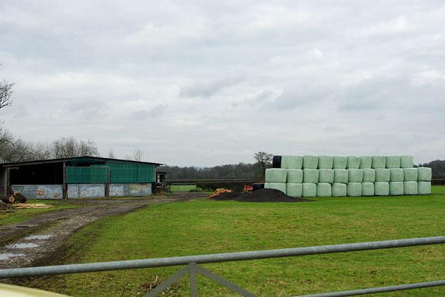Barn and bales