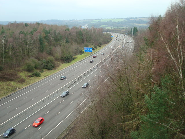 M23 Northbound near Nutfield