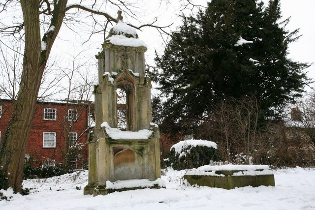 Monument in the snow