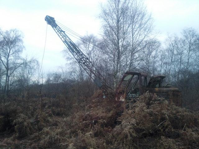 Retired Priestman crane on Hatfield Moor