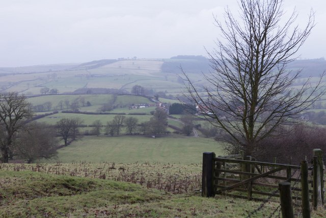 View over fields towards Kirby Underdale