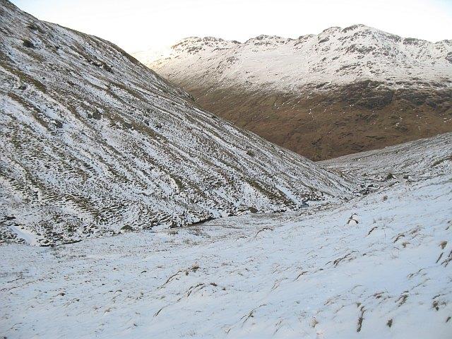Between Beinn Luibhean and Beinn Ime