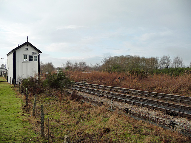 Forres East signal box