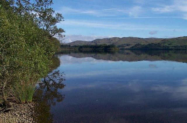 Loch Awe to rear of Village Hall, Dalavich
