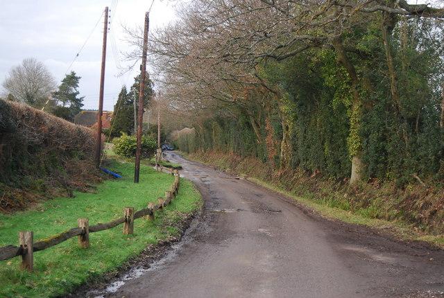 Lane to Little Pix Hall Farm